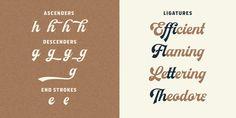 Herchey - Webfont & Desktop font « MyFonts Really cool Ascenders & Ligatures here #ascenders #descenders #ligatures #font #fonts #opentype #otf #font #fonts #script #brush #design