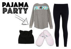 """pajama"" by clarisaguerra-243 on Polyvore featuring moda, NIKE y Dearfoams"