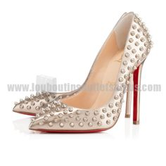 3c4779d8c365 Christian Louboutin Pigalle Spikes 120mm Leather Beige Sunglasses 2014