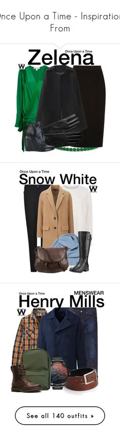 """""""Once Upon a Time - Inspirations From"""" by wearwhatyouwatch ❤ liked on Polyvore featuring Diane Von Furstenberg, River Island, L.K.Bennett, The Last conspiracy, television, wearwhatyouwatch, Sweaty Betty, Belstaff, Uniqlo and Faribault Woolen Mill Co."""