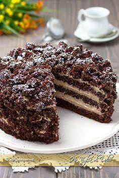 it wp-content uploads 2017 02 torta-mimosa-al-cioccolato-ricetta-e-passaggi. Torte Cake, Pie Cake, No Bake Cake, Dark Chocolate Recipes, Homemade Chocolate, Chocolate Torte, Sweet Recipes, Cake Recipes, Dessert Recipes