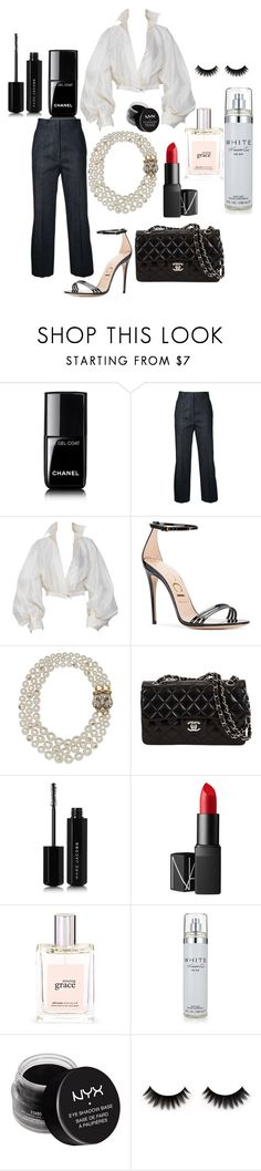 """""""Aayyee"""" by comerttaylan ❤ liked on Polyvore featuring Chanel, H Beauty&Youth, Claude Montana, Gucci, Marc Jacobs, NARS Cosmetics, philosophy, Kenneth Cole and NYX"""