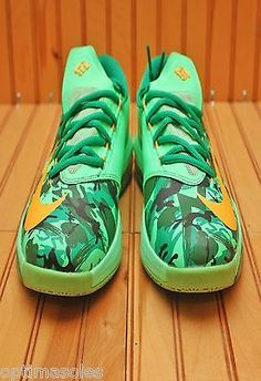 4ae18171ee48 Nike KD VI 6 Size 4.5y - Easter Camo Green Atomic Mango - 599477 303