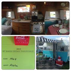 Aloha vintage trailer.