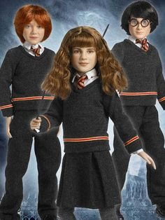 Hogwarts Trio Tonner Dolls - Name of Set: Hogwarts Trio Collectors Set -- Actor's Likeness: Daniel Radcliffe, Rupert Grint, and Emma Watson