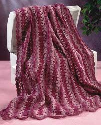 Upscale this with prettier yarns.  I'd go more subtle with the tone on tone. Fast pattern, though!