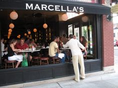Marcella's - my go to for food & people watching