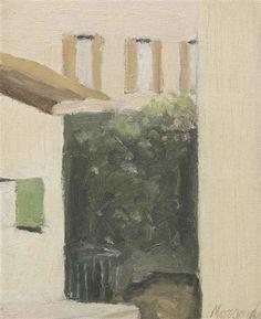 Cortile di Via Fondazza, 1956 by Giorgio Morandi. Post-Impressionism. cityscape