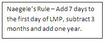 Naegele's Rule | lmp is april 3 2002 to compute we need to use the naegele s rule
