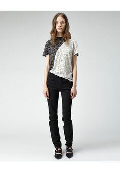 Proenza Schouler / Split Print Tissue T-Shirt | La Garconne - $265