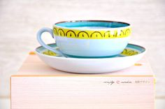 Sweet cup for Mom's coffee or tea in the morning! Vintage Cup Saucer Crownband Arabia Finland by SimplyLoveNordic