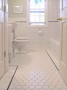 1920s bathroom | Bathroom Tour from Bungalow Tile | Apartment Therapy