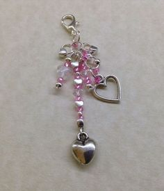 FULL of HEART KEYRING - Handmade - Tibetan Silver Charms - Bag - Handbag CHARM