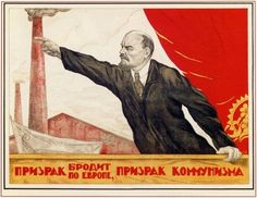 """A specter is haunting Europe - the specter of Communism (The text is from Karl Marx's """"Communist Manifesto"""") - 1920"""
