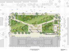 frank gehry's revised eisenhower memorial approved - designboom