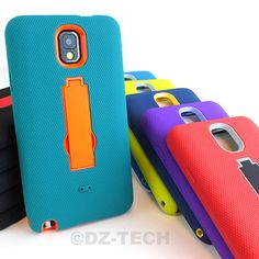 For SamsungGalaxyNote III 3 Rugged Impact Hybrid Hard Case Cover Kickstand