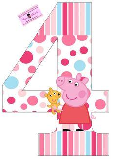 EUGENIA - KATIA ARTES - BLOG DE LETRAS PERSONALIZADAS E ALGUMAS COISINHAS: Peppa e George Números Personalizados Bolo Da Peppa Pig, Cumple Peppa Pig, Peppa Pig Imagenes, Peppa Big, Peppa E George, Peppa Pig Family, Backyard Birthday Parties, Pig Birthday Cakes, Pig Party