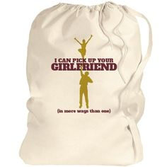 Male Cheerleader Fun Port Authority Laundry Bag at Customized Girl storefront http://www.customizedgirl.com/s/mommeansbusiness