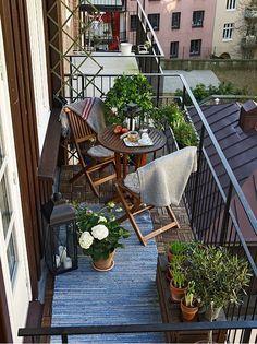 Nawet mały balkon da się fajnie urządzić!