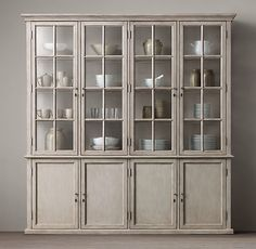 Restoration hardware china cabinet to match dining room