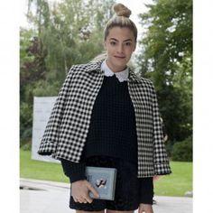Le paletot vichy, look de la Fashion Week printemps été 2014 de Londres