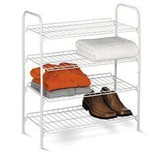 Price: $14.00 Honey-Can-Do SHO-01172 4-Tier Closet Accessory Shelf, White