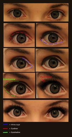 Eye makeup @Hannah Mestel Mestel Mestel Sam #eyemakeup  Make your eyes look wider