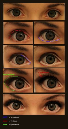 Eye makeup @Hannah Mestel Mestel Mestel Sam #eyemakeup Make your eyes look wider