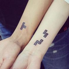 Matching Wedding Tetris Tattoo
