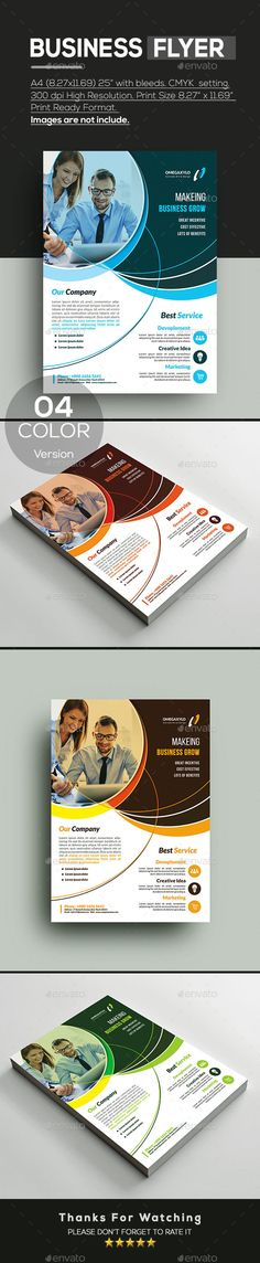 Business Flyer Free Flyer Templates, Business Flyer Templates, Print Design, Print Print, Flyer Design Inspiration, Flyer Layout, Advertising Agency, Fresh Green, Corporate Brochure