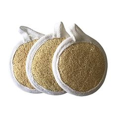 Exfoliating Loofah Facial Pads 3 Pack Skin Care Tool For Deep Cleaning and Exfoliation - Durable Easy to Use - 100% Natural Loofah - Excellent Exfoliator - Rejuvenates and Tightens Skin. Wicked Health and Beauty http://www.amazon.com/dp/B0125TJBGM/ref=cm_sw_r_pi_dp_antUvb1SXKR2W