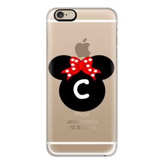 iPhone 6 Plus/6/5/5s/5c Case - Minnie Mouse Initial Monogram C ($40) ❤ liked on Polyvore featuring accessories, tech accessories, iphone case, monogram iphone case, slim iphone case, apple iphone cases and iphone cover case