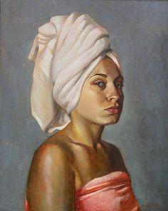 Portrait of Anna. Oil on canvas #painting Artist: Tatyana Holodnova