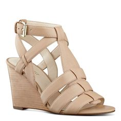Farfalla Caged Wedge Sandals