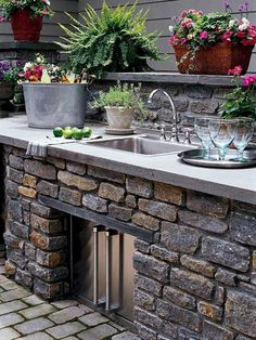 """Outstanding """"outdoor kitchen designs layout patio"""" information is offered on our internet site. Take a look and you wont be sorry you did. Outdoor Kitchen Sink, Outdoor Kitchen Design, Kitchen Sinks, Garden Sink, Outdoor Glider, Outdoor Cooking Area, Outside Room, Adirondack Furniture, Outdoor Carpet"""