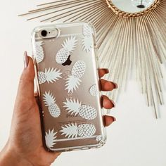 pinterest @lilyosm | iphone pineapple clear phone case cover cute