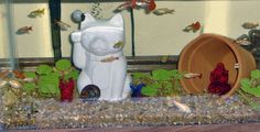 Buddha Maneki Neko Lucky Cat Fish Tank