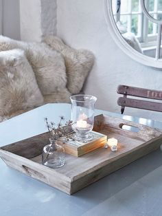 Rustic Wooden Tray Wooden Trays, Wooden Diy, Wooden Tables, Wooden Kitchen,  Farmhouse