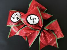 Christmas Cheer Bows! Perfect for sisters or BFFs. Visit my Etsy store to order.