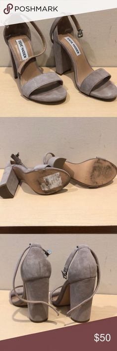 159d65e5f06f8 Steve Madden Heels Sandals Carrson Taupe Worn once! These Carrson suede  sandals are in excellent