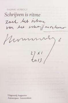 Thomas Verbogt bij de minor Creatief schrijven, FHJ, 27-11-2013