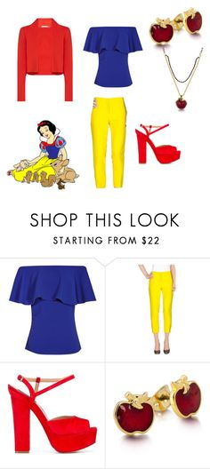 """""""Snow White"""" by laine-20 ❤ liked on Polyvore featuring Tara Jarmon, Alice + Olivia, Dsquared2 and Disney"""