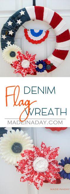 Patriotic Denim Flag