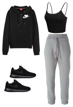 """Untitled #557"" by jessi-cabrera-1 on Polyvore featuring NIKE, adidas and LE3NO"