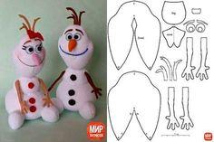 Molde do boneco olaf Frozen para imprimir Olaf Frozen, Frozen Felt, Diy Christmas Decorations Easy, Christmas Crafts For Kids, Felt Christmas, Christmas Ornaments, Christmas Holidays, Kids Crafts, Sock Crafts