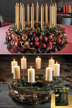 lila kerzen adventskranz basteln advent wreaths and decor pinterest christmas christmas. Black Bedroom Furniture Sets. Home Design Ideas
