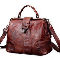 b024e394d57d Women Leather Doctors Bag Handbags Purse – iLeatherhandbag Moda Çantalar