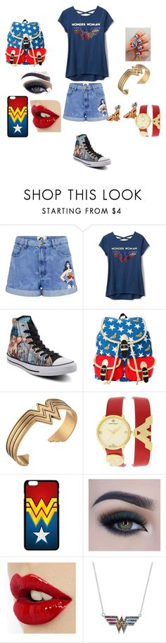 """""""Sin título #31"""" by lucia-valle-sanchez on Polyvore featuring moda, Paul & Joe Sister, Converse, DC Comics, Alex and Ani, Nanette Lepore y Too Faced Cosmetics"""