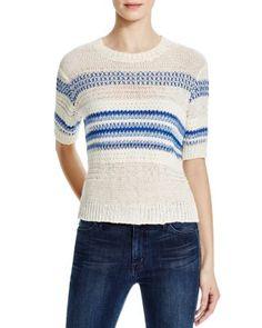 Current/Elliott The Mixed Stitch Stripe Mini Sweater   Bloomingdale's