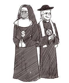Kakuzu and Hidan disguised as nuns hahahahaha xD